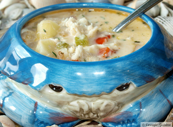 Crab, Bacon, and Parsnip Chowder - Paleo Recipes ...